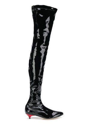 Gia Couture thigh boots - Black