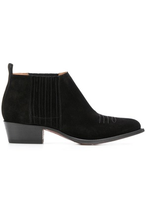 Buttero Tres western ankle boots - Black