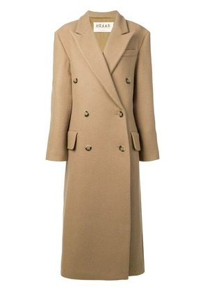 A.W.A.K.E. double breasted coat - Brown