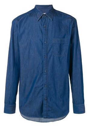 Z Zegna longsleeved denim shirt - Blue
