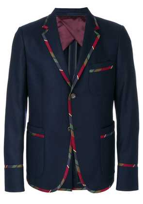 Gucci striped trim blazer - Blue