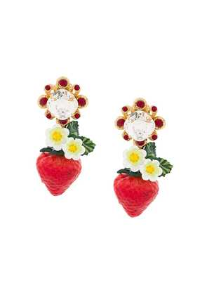 Dolce & Gabbana 'Strawberry' earrings - Metallic