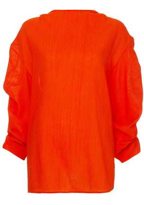 Jil Sander ruched shirt - Orange