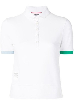 Thom Browne Piqué Collection Polo - White