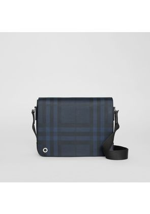 Burberry Small London Check Satchel, Blue