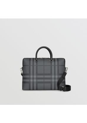 Burberry Large London Check Briefcase, Grey