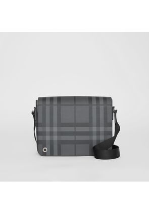 Burberry Small London Check Satchel, Grey