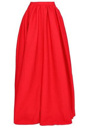 Emilia Wickstead Woman Pleated Cloqué Maxi Skirt Red Size 12