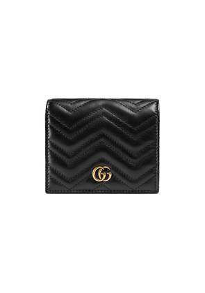 Gucci GG Marmont wallet in leather - Black