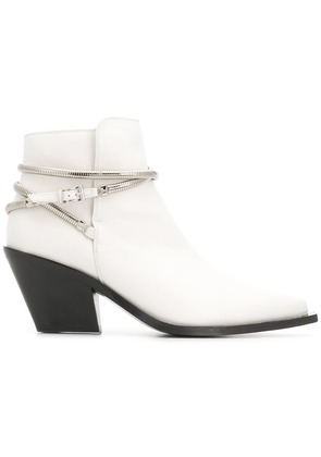 Barbara Bui pointed toe ankle boots - White