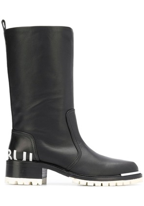 Barbara Bui round toe knee boots - Black