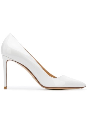 Francesco Russo classic pointed heels - White