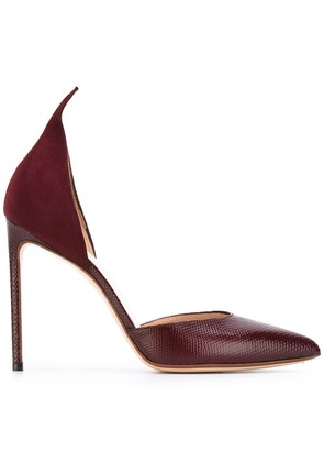 Francesco Russo pointed pumps - Red
