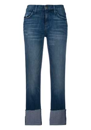Current/Elliott cropped fitted jeans - Blue