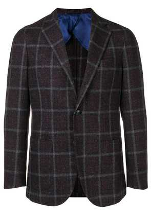 Barba checked blazer - Purple