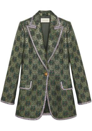 Gucci GG Art Deco floral jacket - Green