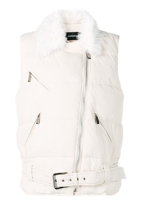 Barbara Bui shearling buckled vest - Neutrals