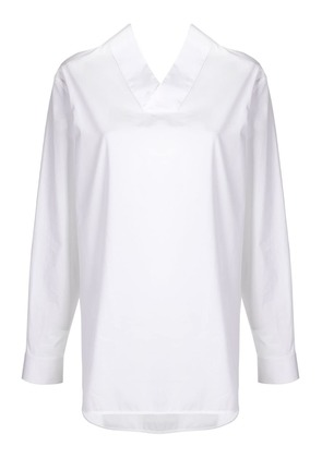 Jil Sander V-neck shirt - White