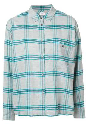 Closed checked button-down shirt - Grey