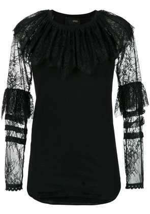 Andrea Bogosian lace panels blouse - Black / Black