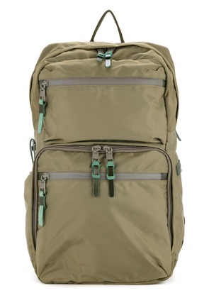 As2ov 210D nylon twill square backpack - Green