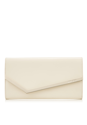 EMMIE Linen Patent and Suede Clutch Bag
