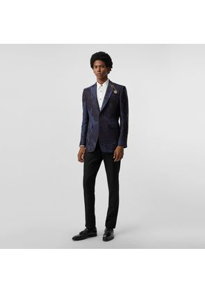 Burberry Classic Fit Dreamscape Wool Blend Tailored Jacket, Blue