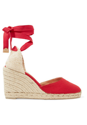 Castañer - Carina 80 Canvas Wedge Espadrilles - Red