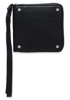 Mcq Alexander Mcqueen Woman Textured-leather Wallet Black Size -