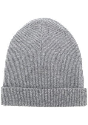 Cashmere In Love cashmere ribbed beanie - Grey
