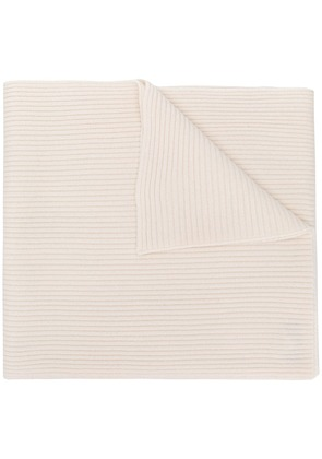 Cashmere In Love cashmere ribbed scarf - White