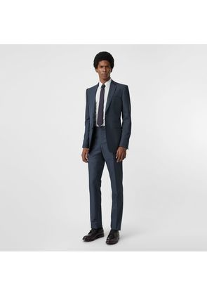 Burberry Classic Fit Wool Mohair Silk Suit, Blue