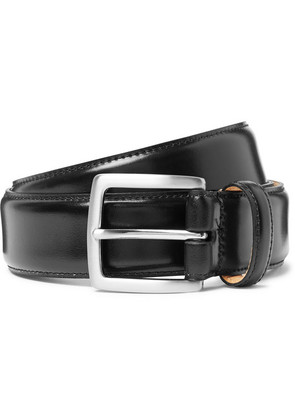 George Cleverley - 3.5cm Black Horween Shell Cordovan Leather Belt - Black
