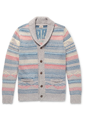 Faherty - Sun & Wave Slim-fit Shawl-collar Cotton-blend Cardigan - Blue