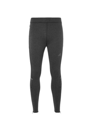 Adidas Sport - Ultra Mesh-panelled Primaloft Tights - Black