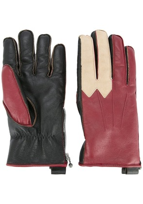 Addict Clothes Japan color block gloves - Red