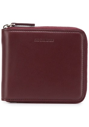 Jil Sander square zip-around wallet - Red