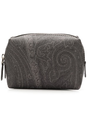 Etro printed wash bag - Black