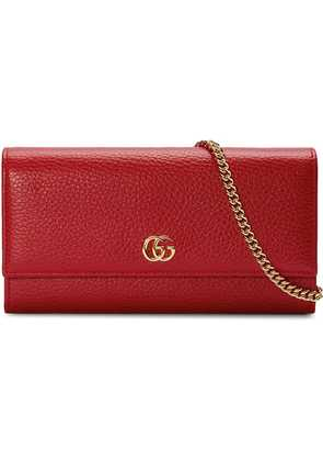 Gucci GG Marmont leather chain wallet - Red