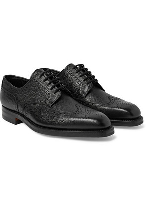 George Cleverley - Henry Pebble-grain Leather Wingtip Brogues - Black