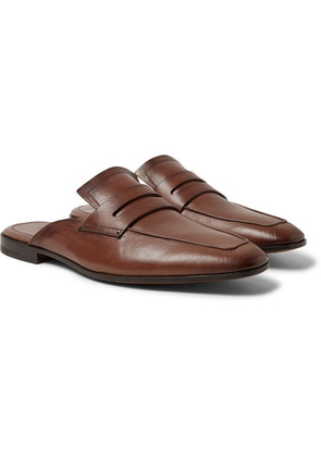 Lorenzo Leather Backless Loafers