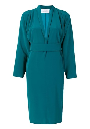 Gianluca Capannolo belted waist dress - Blue