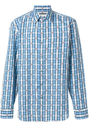 Gucci bee checked shirt - Blue