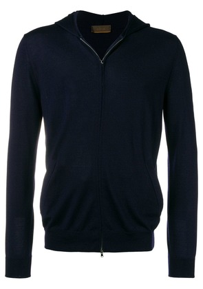 Altea hooded zip front cardigan - Blue