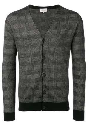 Brioni checked cardigan - Black
