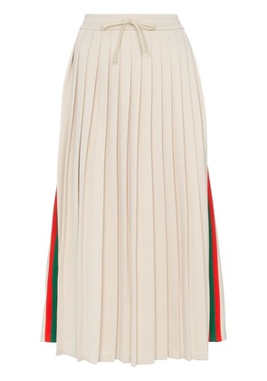 Gucci pleated ribbon skirt - Neutrals