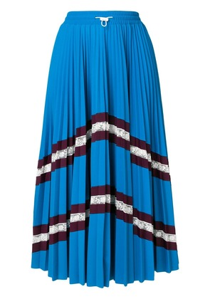 Valentino chevron pleated midi skirt - Blue