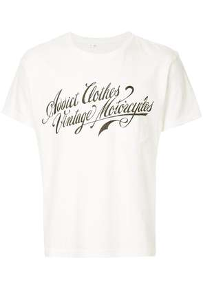 Addict Clothes Japan logo print T-shirt - White