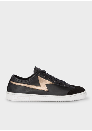 Women's Black 'Ziggy' Calf Leather Trainers