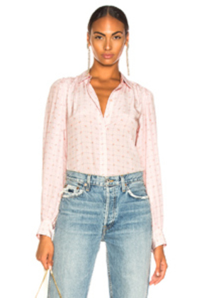 Equipment Marcilly Blouse in Floral,Pink,Plaid